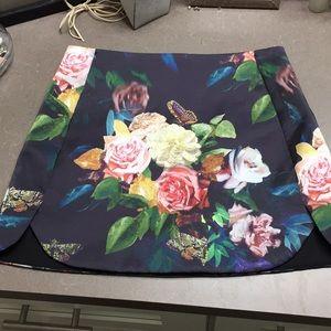 Top shop floral mini skirt